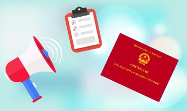 Thông báo bồi dưỡng, thi cấp chứng chỉ Ứng dụng Công nghệ thông tin cơ bản theo thông tư số 03/2014/TT-BTTTT ngày 11/03/2014
